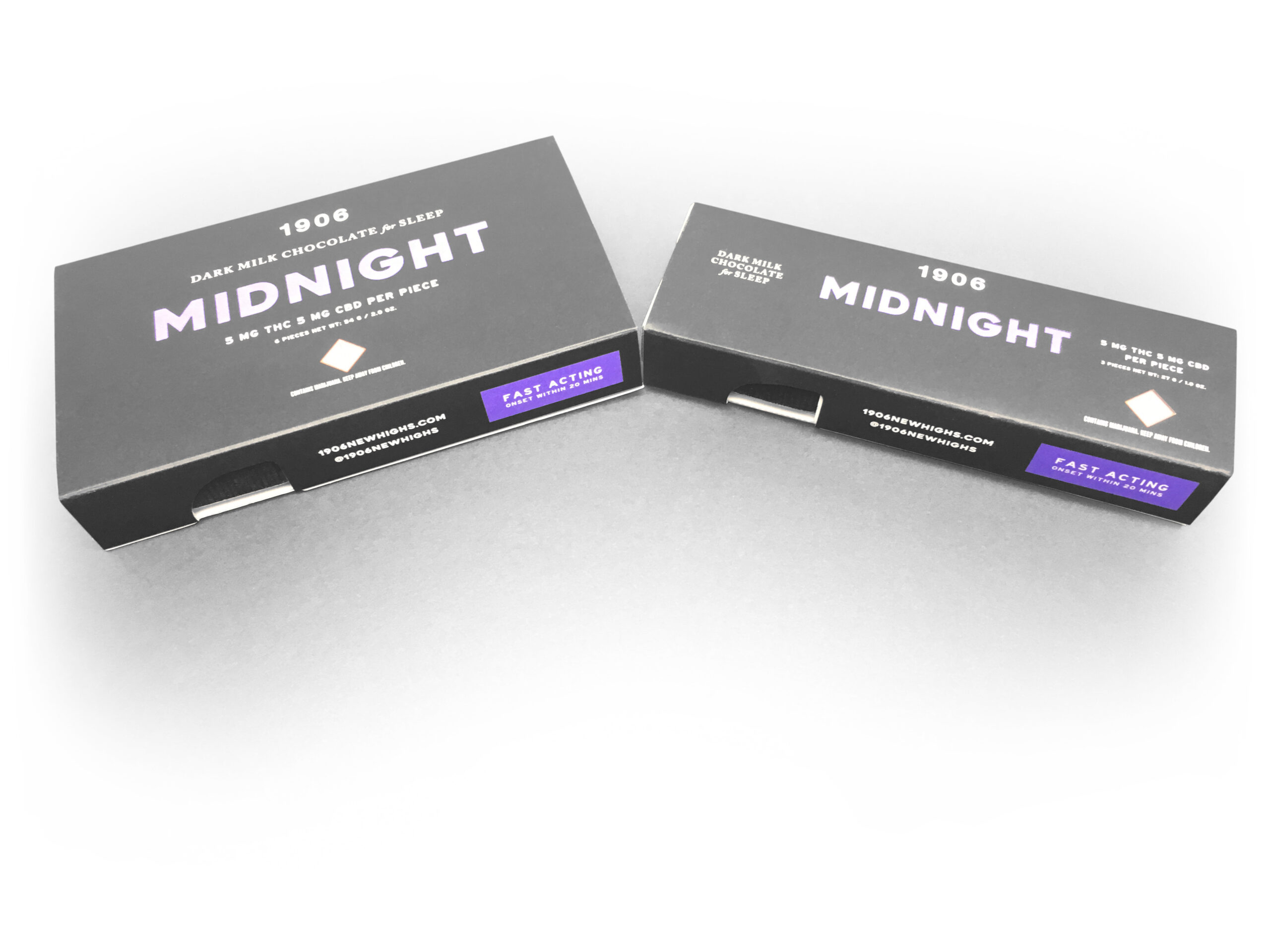 Cannabis Packaging and Printing - 1906 Midnight Chocolate Edibles