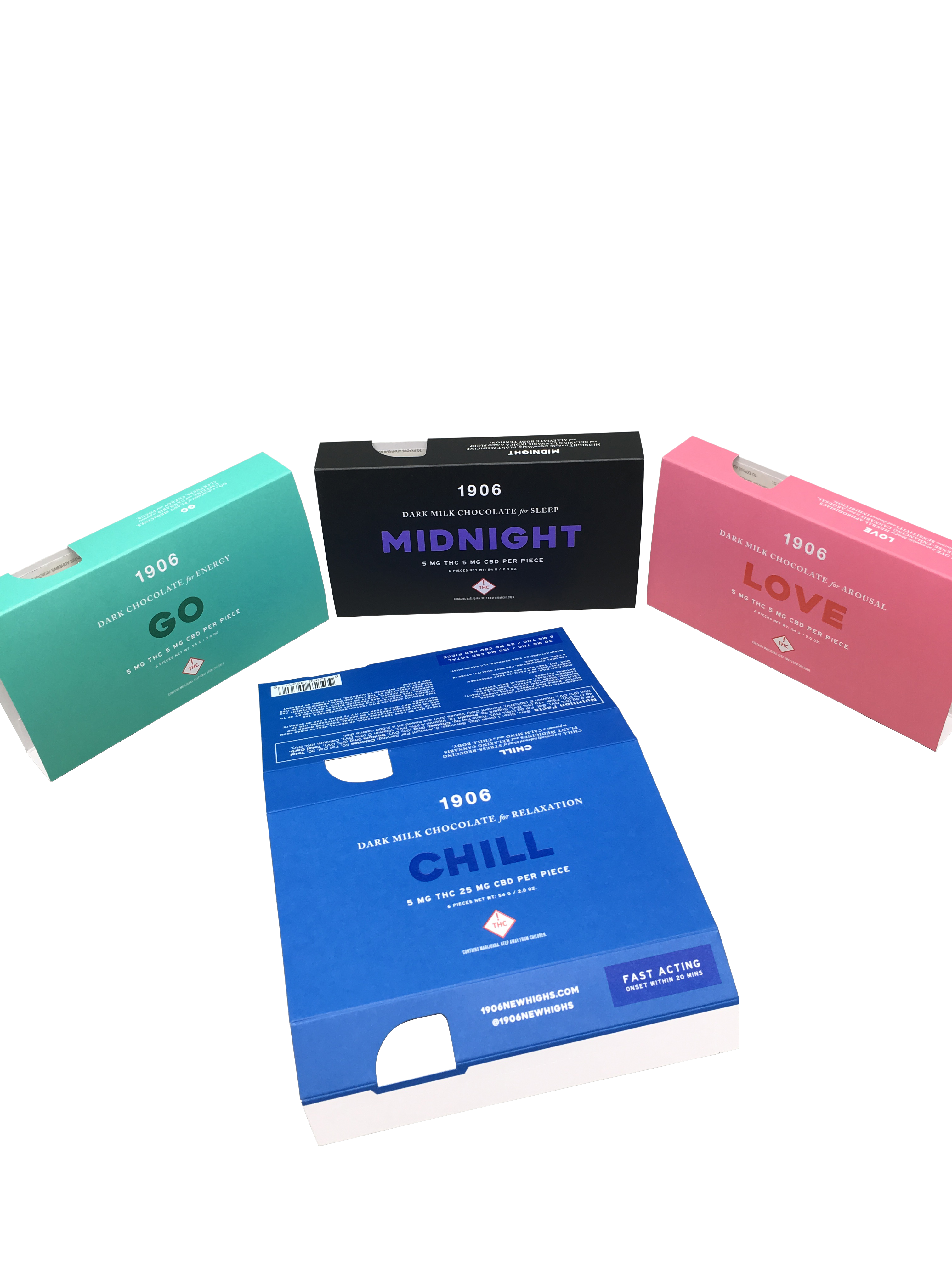 Custom Packaging and Design for 1906 Cannabis Company