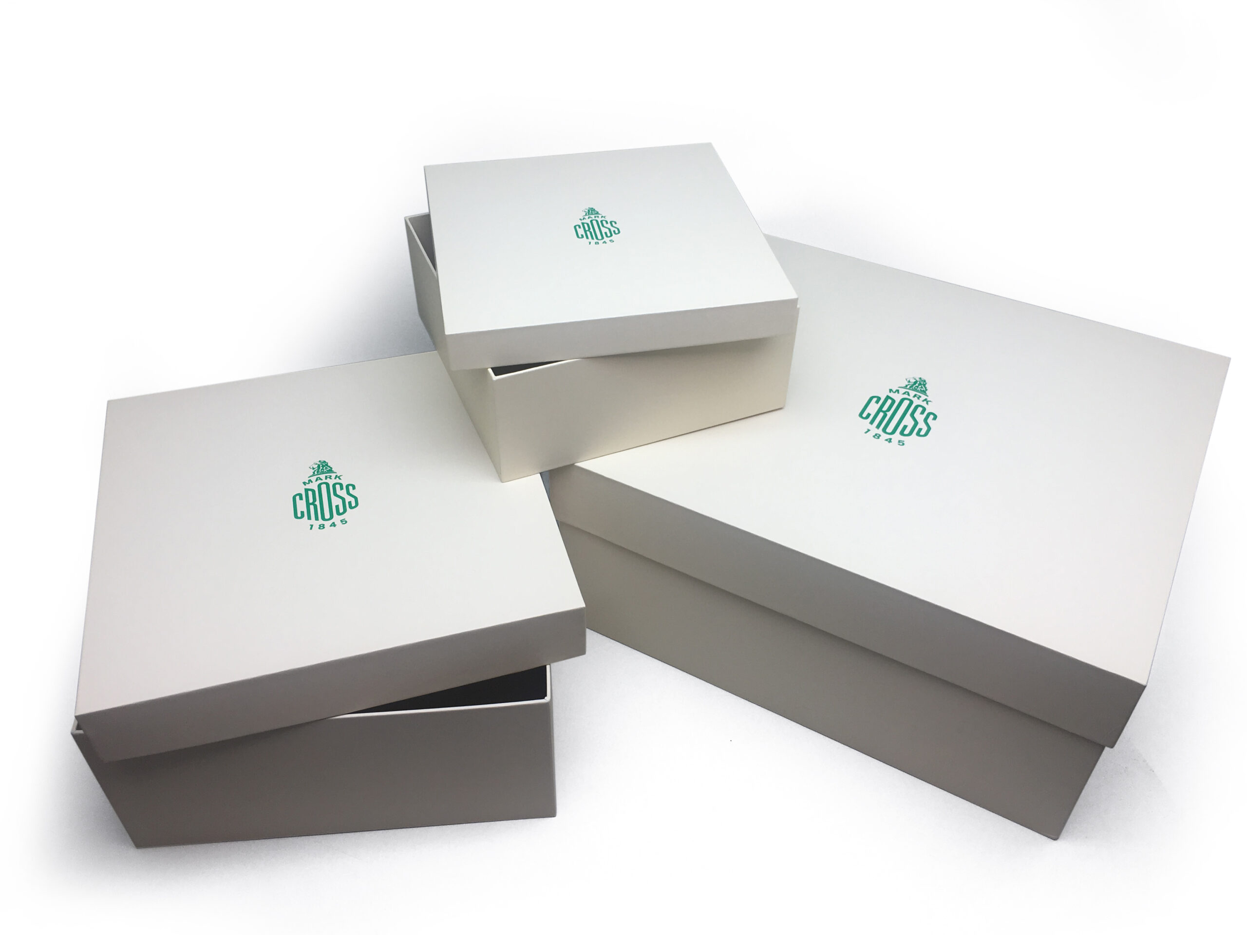 Custom packaging printing for Mark Cross