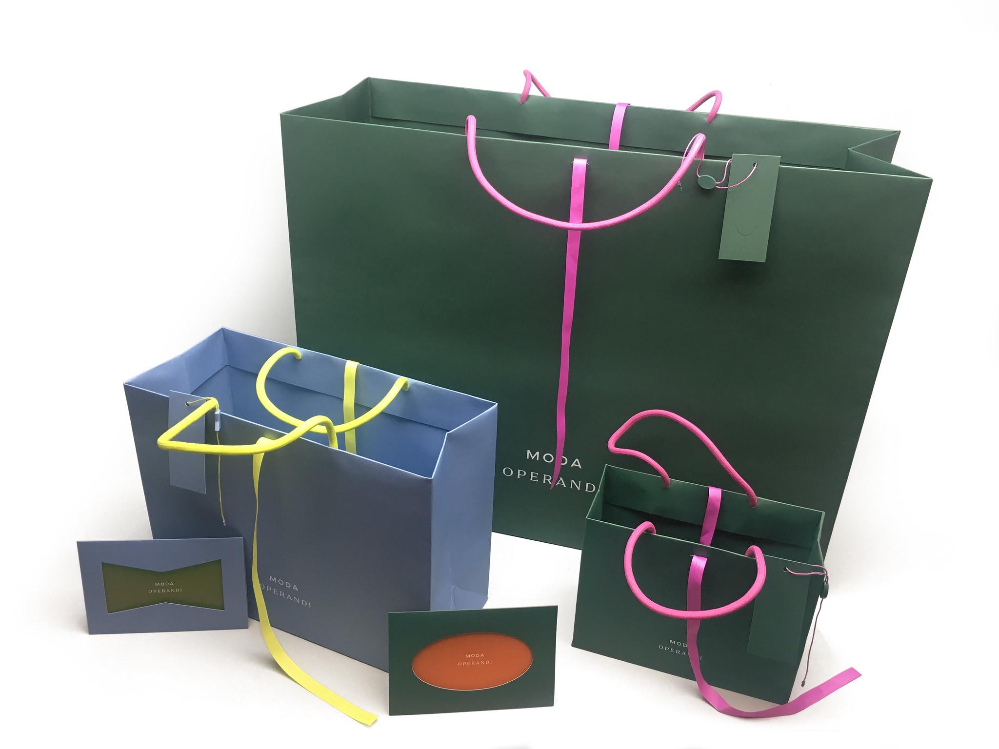 Custom Printed Retail Shopping Bags & Packaging: Moda Operandi
