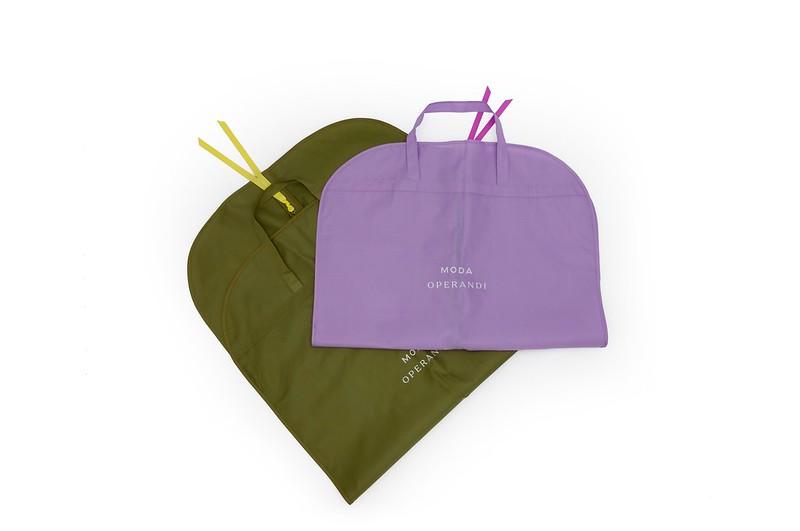 Custom printed garment bags - Moda Operandi